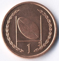 Isle of man 1 penny 1997 - Rugby Ball