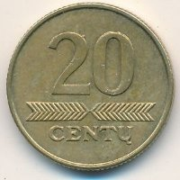 Lithuania 20 cents 2008