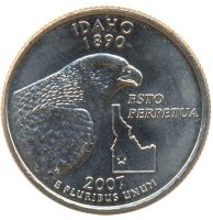United States 25 cents 2007 - Idaho (D)