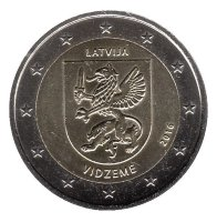 Latvia 2 Euro 2016 - Historic region of Latvia. Vidzeme