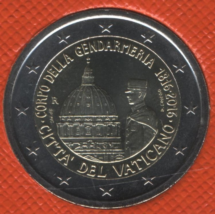 Vatican 2 Euro 2016 - 200th anniversary of the Pontifical gendarmerie