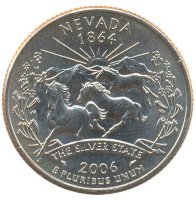 United States 25 cents 2006 - Nevada (D)