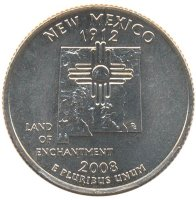 United States 25 cents 2008 - State of new Mexico (D)