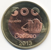 The island of Corisco (Equatorial Guinea) 500 ekuele 2013
