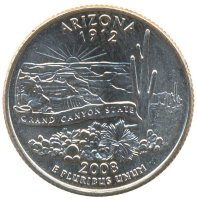 United States 25 cents 2008 - Arizona (D)