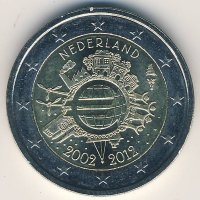 Netherlands 2 Euro 2012 10 years of Euro cash