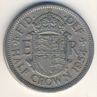 Great Britain 1/2 crown 1954