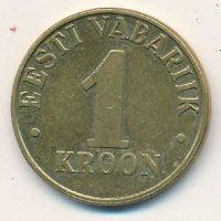 Estonia 1 crown 2000 - Three lions