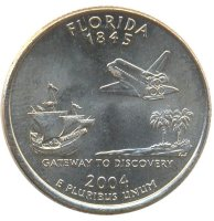USA 25 cents 2004 - Florida (D)
