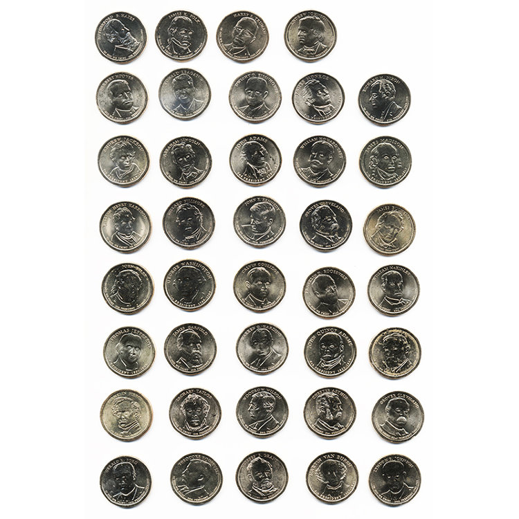 "Set of 39 coins of the series ""presidents of the United States"""