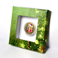 Engraved coin 10 rubles in 2016 - the snow maiden in red (gift pack)