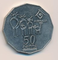 Australia 50 cents 1994 international year of the family