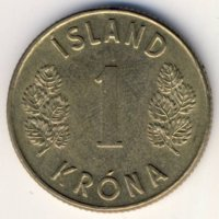 Iceland 1 Krona 1973 - coat of Arms