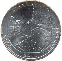 USA 25 cents 2010 - national Park-Grand Canyon (D)
