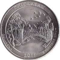 USA 25 cents 2011 - Recreation area of Chickasaw (D)