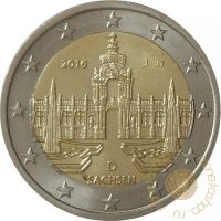Germany 2 Euro 2016 - Saxony. (The Zwinger Palace, Dresden)