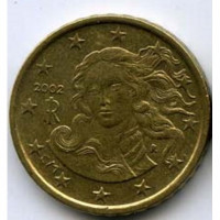 Italy 10 Euro cents 2002 - the Birth of Venus