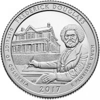 USA 25 cents 2017 - national Park. Frederick Douglass (D)