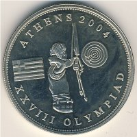 Somalia 1 dollar 2004 - XXVIII summer Olympic Games, Athens 2004. Archery