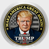 Donald trump is Engraved coin 10 rubles in 2016