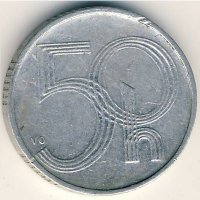 Czech Republic 50 haler 1993