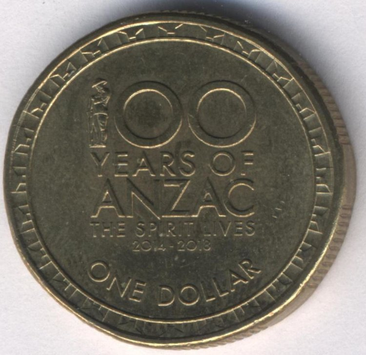 Australia 1 dollar 2014 100 years of ANZAC