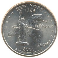 USA 25 cents 2001 new York (P)