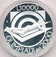 San Marino 10000 lire 1999 - Olympic games in 1999
