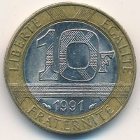 France 10 francs 1991 - the Genius of Freedom
