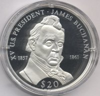 Liberia 20 dollars 2000 - James Buchanan