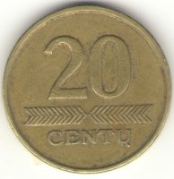 Lithuania 20 cents 2007