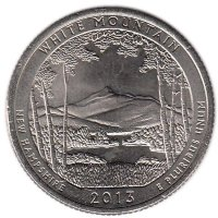 USA 25 cent 2013 - the national forest of the White mountains (P)
