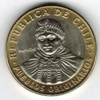 Chile 100 pesos 2012 - the Mapuche (Araucanians)