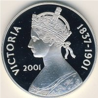 Ascension island 50 pence 2001