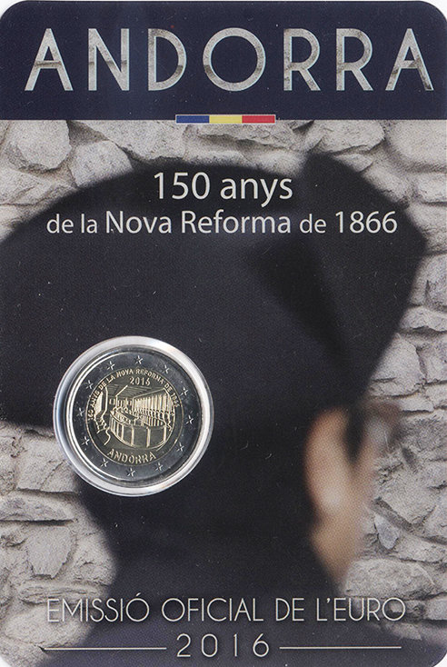 Andorra 2 Euro 2016 - 150th anniversary of the new reform of 1866
