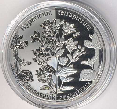 Belarus 1 rouble 2014 - St. John's Wort four-winged