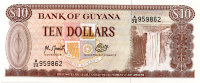 Guyana 10 dollars 1992 - Kaieteur Falls on the Potato river