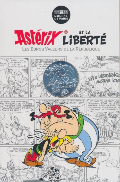 France 10 Euro 2015 - Asterix and Obelix - LIBERTE, laughter