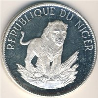 Niger 10 francs 1968 lion