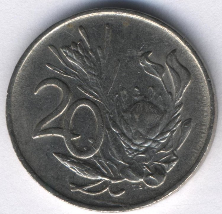 South Africa 20 cents 1984 - the king Protea
