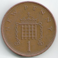 United Kingdom 1 new penny - 1980- of gersa
