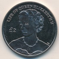 Ascension island 2 pounds 2012 Queen Elizabeth II