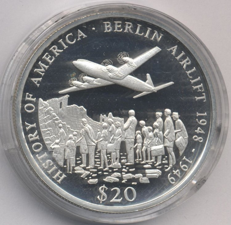 Liberia 20 dollars 2003 - the Berlin airlift 1948-1949