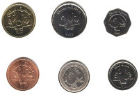 Set of 6 coins Lebanon 1996-2012 year