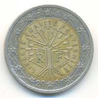France 2 euros 2001 - Stylized tree