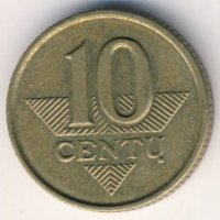 Lithuania 10 cents 1997 - Knight
