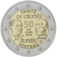 Germany 2 € 2013 50 years of Franco-German friendship Treaty and cooperation