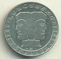 Norway 5 kroner 1986 - 300th anniversary of the Norwegian mint
