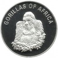 Uganda 1000 shillings 2003 - Seated gorilla